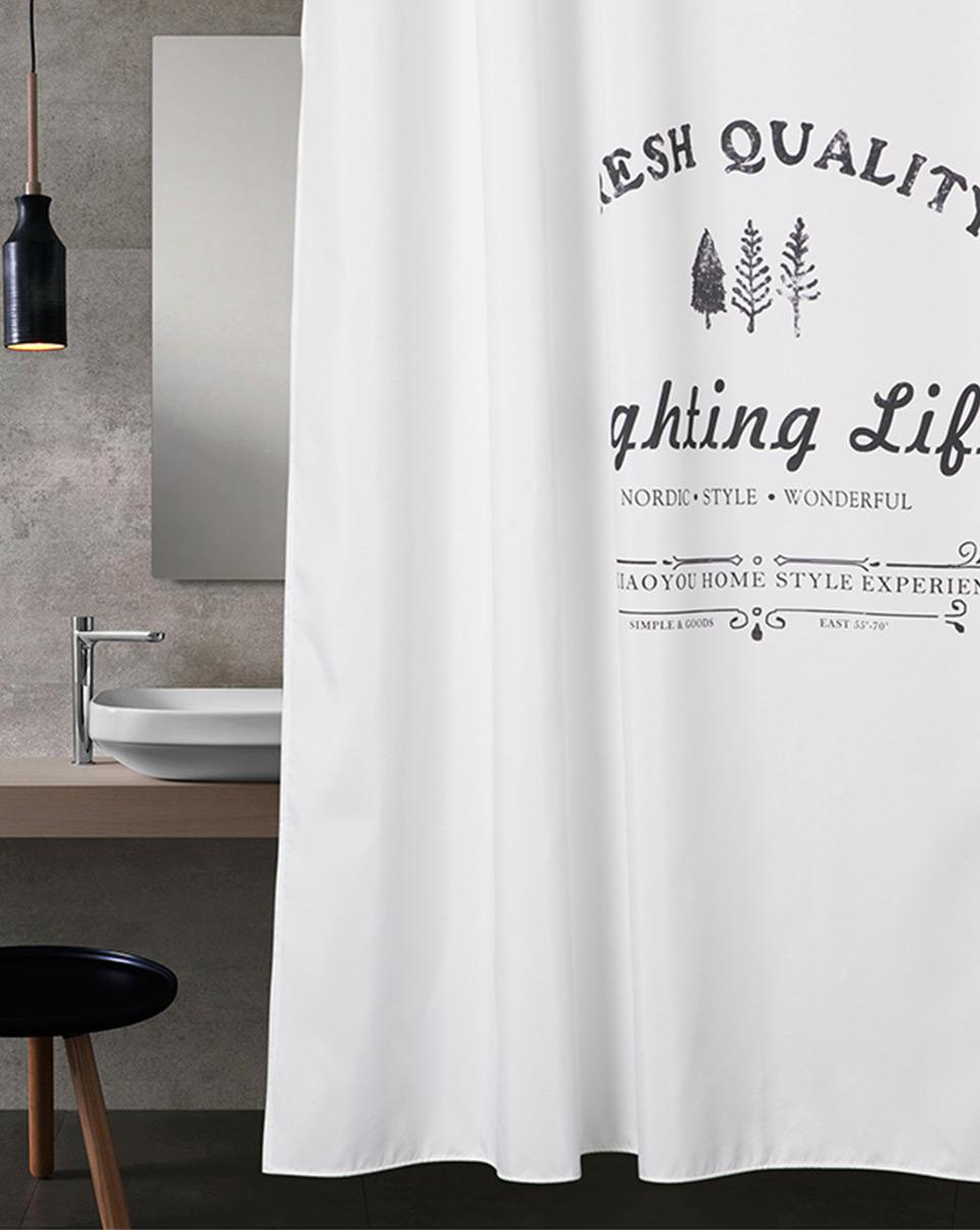 2019 Aimjerry White Shower Curtain Fabric Waterproof Mildewproof Modern Bathtub Bathroom Curtain With 12 Hooks Custom 71 71 Inch 060 From Lienal