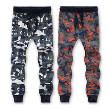 L-6XL 7XL 8XL=52.54 Inch Waist 95% Cotton Camouflage Sweatpants Men Trousers Sweat pants 2016 New Arrived(China)