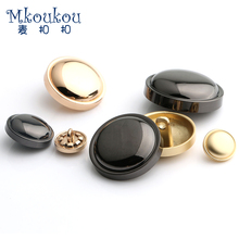 Free shipping 10pcs/lot10/15/17/20/22/25mm polish metal button for men women suit,coat,shirt,clothes round apparel buttons J23