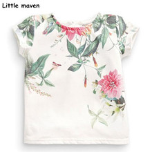 Buy Little maven children 2018 summer baby girls clothes short sleeve flower print t shirt Cotton brand tee tops 50971 for $7.70 in AliExpress store