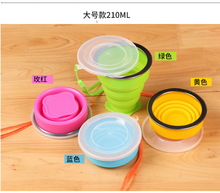 Wholesale ,Free shipping, Soft Silicone Scalable bottle Kettle Sports Travel Portable Compression Folding glass(China)