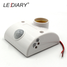 LEDIARY Human Body Induction E27 Holder with Automatic Body Infrared IR Sensor PIR Motion Detector Adjustable Time&Sensitivity(China)