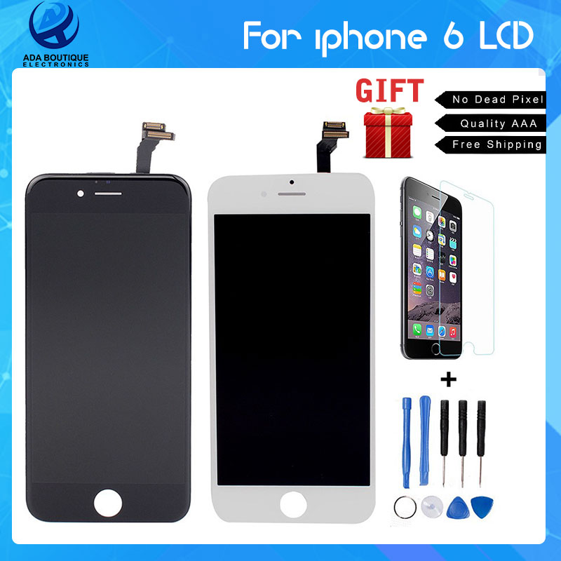 Best Quality AAA No Dead Pixel Grade LCD For iPhone 6 Display With Digitizer Touch Screen Assembly White Black LCD<br><br>Aliexpress