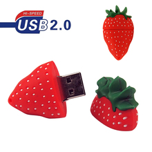 Cheapest Price Cute Strawberry USB Flash Drive Pen Drive 4GB 8GB 16GB 32GB 64GB Pendrive Memory Disk U Disk Flash Card(China)