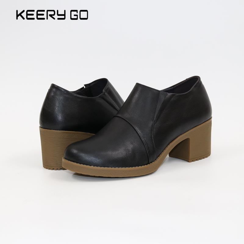 17 years of new leather, high heels, single shoes, inside and outside all leather shoes, classic simplicity<br>