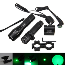 Tactical Green Dot Laser Sight Scope w/Zoomable Focus Green LED 5000Lm Q5 Hunting Torch