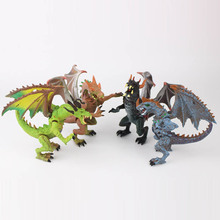 4 pcs/set Simulation dinosaurs 3D Hell Dragon Blocks Kids Action Figure Collectible Model Toy new Year's gift Holiday gifts