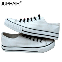 JUP Couples Hand Painted Canvas Graffiti Unisex Casual Shoes Mans Men Girls White High Low Shoe Black Laces Shoelace Breathable(China)
