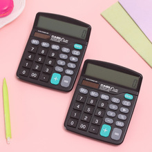 Economic Solar and Dry Cell 12 Digits Dual Power Calculator