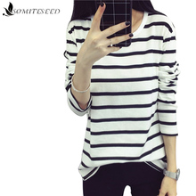 2017 Spring Autumn Hoody Stripes Hoodies for Women Long Sleeves Casual Sweatshirts White Striped Sweatshirt High Quality Hoodie