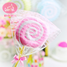 10pcs/lot Free Shipping Hot Sale Washcloth Towel Gift Lollipop Towel Bridal Baby Shower Wedding Party Favor