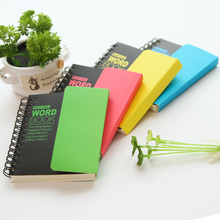 1X Cute Fluorescent Recite Words Learning Foreign Language Vocabulary Notebook Student Stationery School office Supply