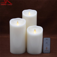 3pcs Flameless LED Pillar Candle Per Set for Window CHristmas New Year Decoration with Timer By Free Shipping In Different Sizes(China)