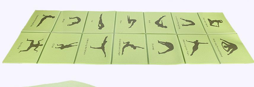 New health massage cushion comfort of portable 8 mm portable folding yoga mat<br>