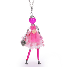 YLWHJJ new women fashion statement necklaces doll princess rose Red pendant classic fashion jewelry to send girls gifts choker(China)