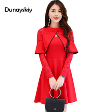 Buy Spring Autumn Cute Lace Long Sleeve Patchwork Women Dress Ladies Cloak Design Sweet Dresses Vestidos Women Clothing Dunayskiy for $23.99 in AliExpress store