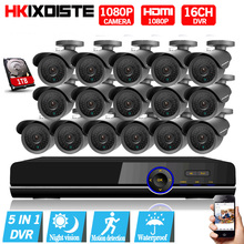 16CH AHD 1080P CCTV DVR Kit 3000tvl 1080P security surveillance Camera system 16 channel HDMI 1080P CCTV System Motion Detection
