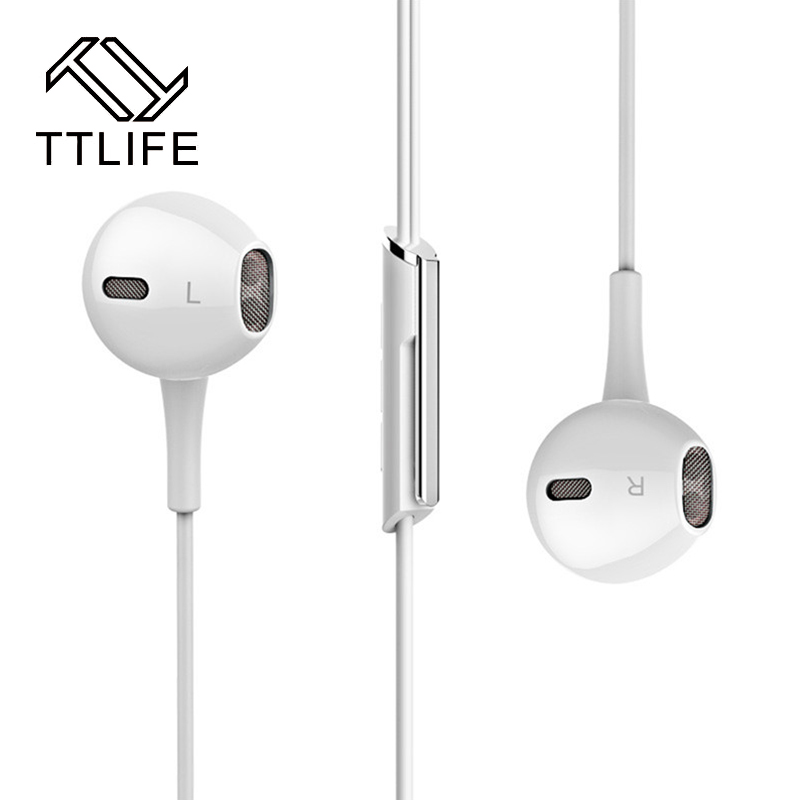 TTLIFE Hot Sale Metal Super Bass In-ear Earphones Volume Control with Mic Headsets for iPhone Sony Xiaomi Mp3 PC 3.5mm<br><br>Aliexpress