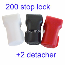Free DHL Fedex 202pcs Retail Security Shop Stop Lock Detachers Stem Peg Display Hooks Anti-theft Anti Sweep Stoplock Pick