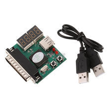Computer 4-Digit Laptop PC Motherboard USB& PCI Analyser Diagnostic Test Post Card Tester for Notebook Laptop(China)