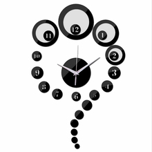 2017 sale new Acrylic mirror wall clock limited promotion quartz watch modern 3d clocks gift Decorative background painting