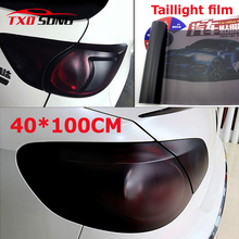 New arrival 40*100CM Matt black tail light Film Tint Taillight Motorbike Headlight Rear Lamp smoked Tinting Film Matt smoke film