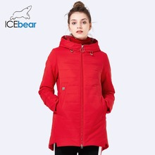 ICEbear2018 new women jacket spring padded long pocket design fall warm coat fashion brand women's fashion jackets GWC18129D(China)
