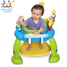 Baby Jumping Bouncer Zoo Rocker Seat Chair Safe Play Area Learning Toys with Electronic Organ Bounce Around Activity Center Gift