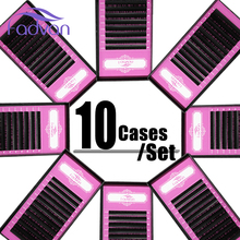10 trays/lot Individual Eyelashes Extension 8-14 Mix in one tray, High Quality Synthetic Mink, Natural Eyelash Extension Makeup(China)