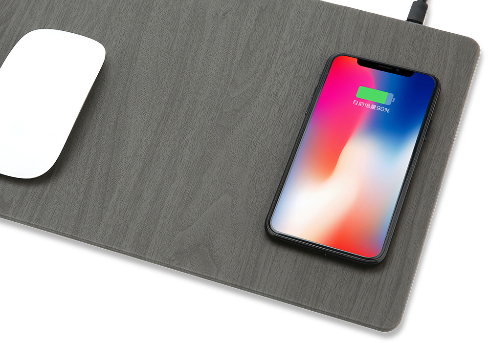 Fast Wireless MousePad Charger,2 in 1 Mouse PadMat Wood With Wireless Charger for iPhone X 8 7 Samsung Note 8S9S8 Qi Charger  (8)