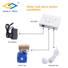 Buy Water Leakage Detector Auto Stop BSP NPT Valve Water Leak Detection Flood Alert Overflow Home Security Alarm System for $58.20 in AliExpress store