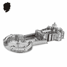STPETER'S BASILICA NANYUAN 3D Puzzle B32202 1:1000 3 Sheets Metal Assembly Model Famous buildings in Italy Toys & gifts