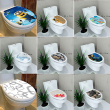 34* 46 cm sticker WC cover toilet pedestal toilets stool toilet lid sticker WC home decoration bathroom Accessories(China)