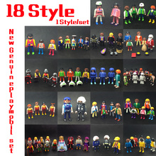 18 Style 7.5cm Germany Playmobil Dolls Accessory Weapon Figures Knights People Horses Action Figure Bricks Toy Gifts(China)
