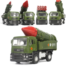 4PCS 1:32 Diecast Model Truck , Fighting Car, Military Army Toy Vehicles, Doors Openable, Flashing And Musical Toys For Children