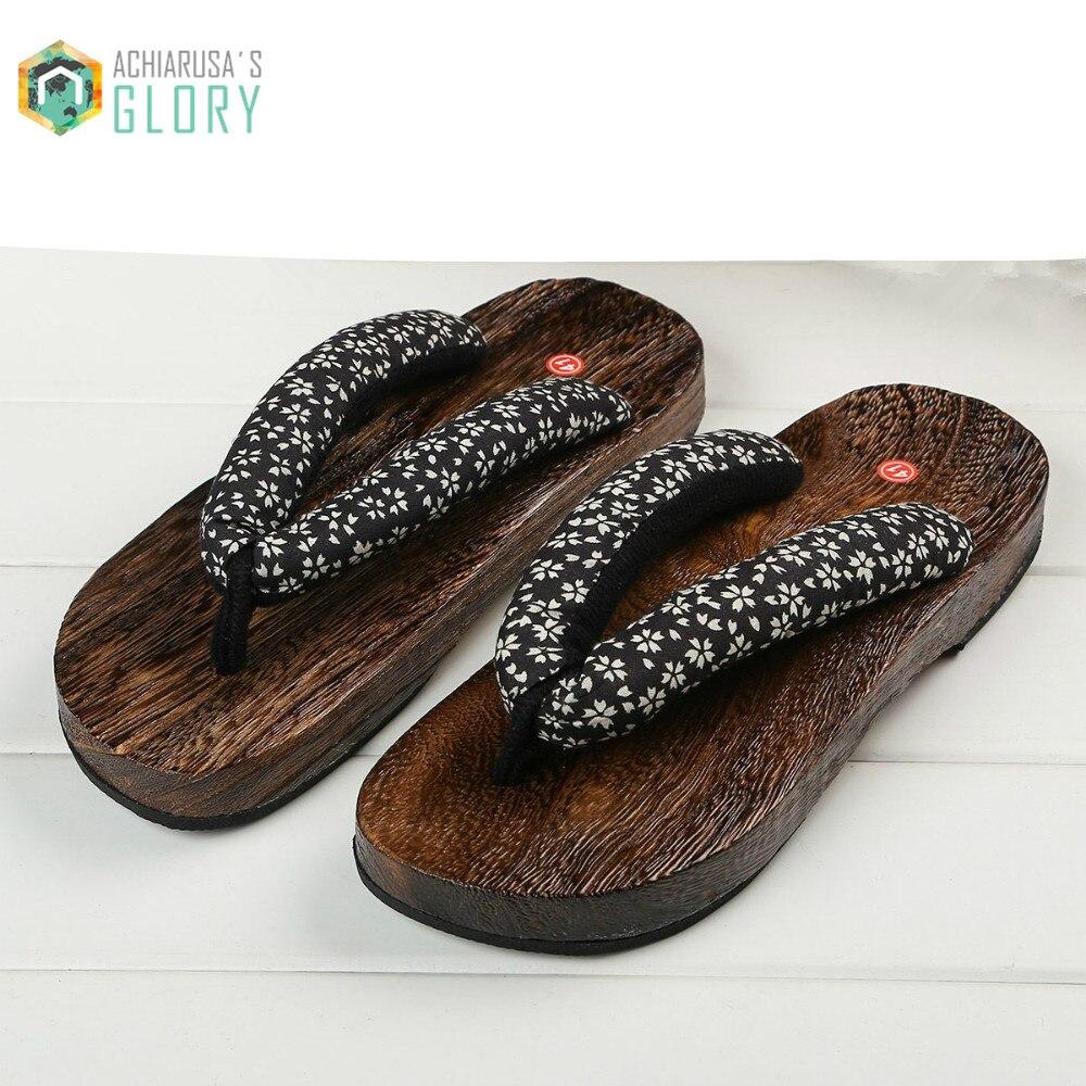 Summer women flip flops 2017 women Sandals Japanese Geta unisex wooden Clogs slippers Cosplay costume Flats wooden WOSAD-201<br><br>Aliexpress