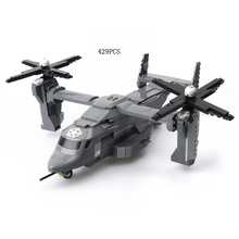 World wars modern Military Osprey Aircraft fighter plane building block model mini air forces soldier figures airplane brick toy