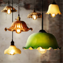 Chinese style retro single head chandelier dining table restaurant originality personalized glass color antique bar lighting(China)