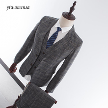 yiwumensa terno smoking masculino Tailor Made Groom Suit men costume homme Business Brand Men suit latest coat pant designs 2018(China)