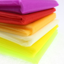 Wholesale 145cm Width DIY Organza Fabrics Sheer Mirror Snow Crystal Organza for Wedding Fabric 18 Colors 50M