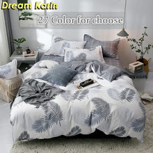 Dream Karin Home Textile 3D Duvet Cover Set Simple Adult Bedding Sets Bed Linen Single Double Queen King(China)