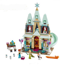 519pcs Princess Arendelle Castle Building Bricks Blocks Castle Model Toys Compatible with Lepine Friends 41068(China)