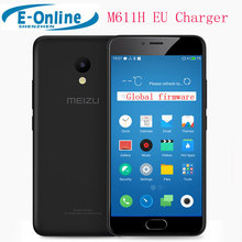Original Meizu M5 International Version M611H 4G LTE Mobile Phone MT6750 Octa Core 2GB RAM 16GB ROM EU Version Black Phone(China)