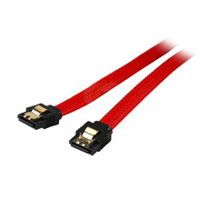 Red Sleeved 18 inch Premium 6Gb/s SATA3 DATA cable w/ Gold Plated latch Locking for SATAIII 6Gbps HDD Hard Drive Disk/ SSD