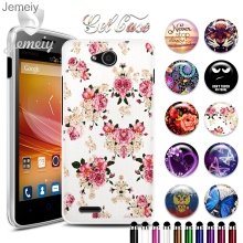 "For ZTE Blade GF3 Soft Silicone Phone TPU Case For ZTE Blade Q LUX 4G GF 3  4.5"" UV Printed TPU Gel Case Back Cover"