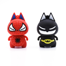Spider Man usb flash drive cute cat pendrive 4gb 8gb 16gb 32gb 64gb Batman U disk pink hero memory stick 2.0 pen drive gift(China)