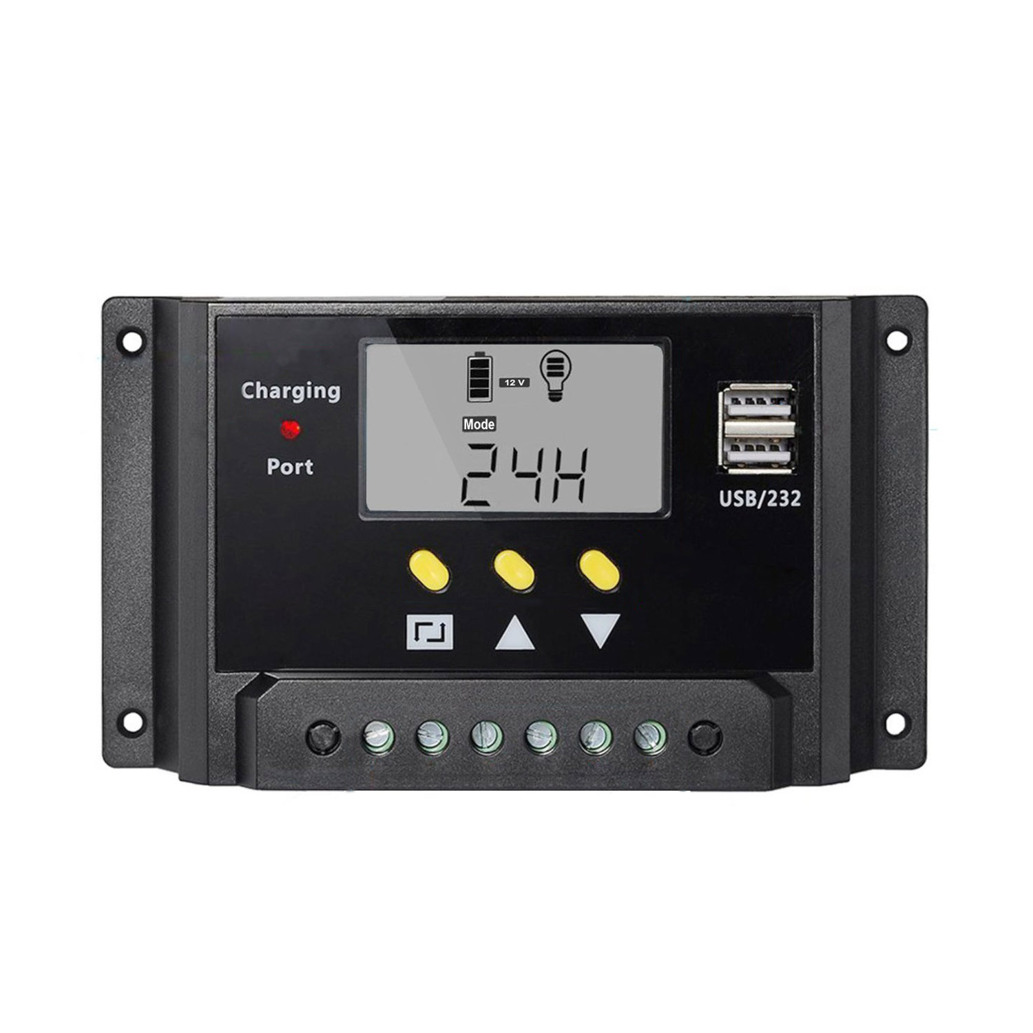 JFBL Wholesale 30A LCD 12V/24V 360W/720W PWM Solar Panel Adapter Charge Controller<br><br>Aliexpress