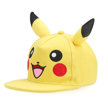 Cute Lovely Pokemon GO Pikachu Mewtwo Gotcha! Flat Snapback Caps New Pocket Monster Hat for Kids Adult Men Women