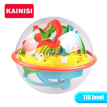 17.5CM 118 Steps 3D Puzzle Ball Magic Intellect Ball educational toys Puzzle Balance IQ Logic Ability Game For Children adults(China)