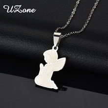 UZone Hot Sale Butterfly Wings Necklace Stainless Steel Angel Wings Fairy Pendnat Necklace Daughter Gift